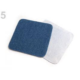 Naželovacie záplaty  riflové 7x7 cm modrá tm. 160sáčok Stoklasa