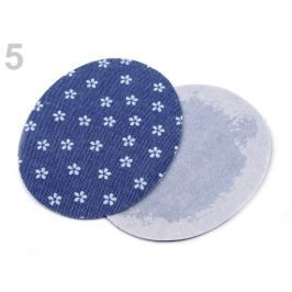 Nažehlovacie záplaty  riflové 6,8x8,5 cm modrá tm. 10sáčok Stoklasa