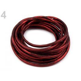 Lesklá šnúra Ø4,5 mm červená karmínová 1m Stoklasa