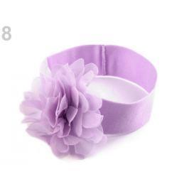 Detská elastická čelenka do vlasov s kvetom fialková sv. 36ks Stoklasa