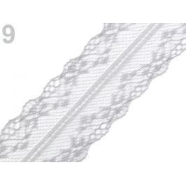 Syntetická čipka / vsádka šírka 37 mm Agate Gray 27m Stoklasa