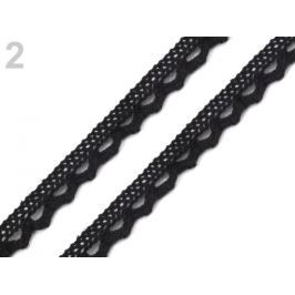 Bavlnená čipka šírka 11 mm paličkovaná čierna 22.5m Stoklasa