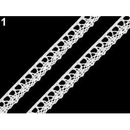 Bavlnená čipka šírka 15 mm paličkovaná White 22.5m Stoklasa