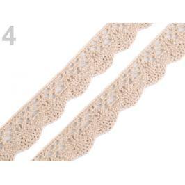Bavlnená čipka šírka 20 mm paličkovaná Pebble 22.5m Stoklasa