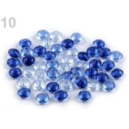 Plastové koráliky brúsené slávik 6x8 mm modrá královská 500g Stoklasa