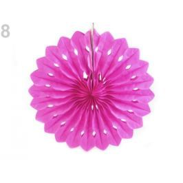 Dekoračný papierový kvet Ø25 cm fuchsiová 1ks Stoklasa