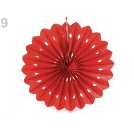 Dekoračný papierový kvet Ø25 cm červená sv. 1ks Stoklasa