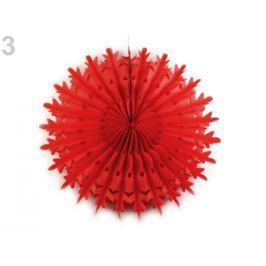 Dekoračná papierová vločka Ø38 cm červená 1ks Stoklasa