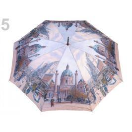 Dámsky vystrelovací dáždnik modrá ľadová 1ks Stoklasa