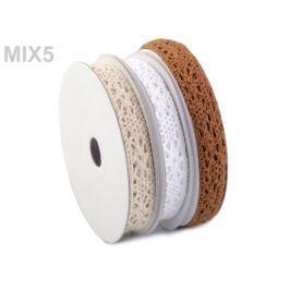 Bavlnená čipka  mix šírka 13 mm Stoklasa