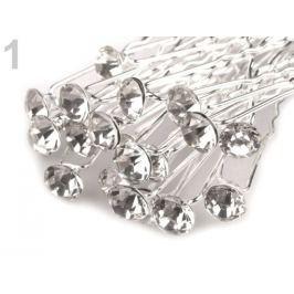 Štrasová vlásenka s kamienkom Ø7,2 mm crystal 20ks Stoklasa