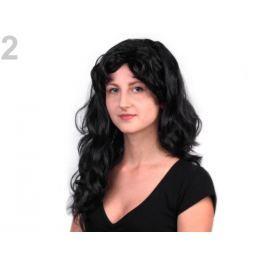 Parochňa dlhé vlasy čierna 1ks Stoklasa