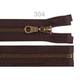 Staromosadzný zips šírka 6 mm dĺžka 80 cm bundový Chocolate Brown 10ks Stoklasa