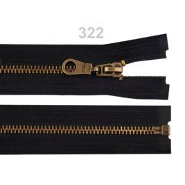 Staromosadzný zips šírka 6 mm dĺžka 80 cm bundový Black 50ks Stoklasa