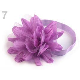 Pružná čelenka do vlasov s kvetom fialová orchidej 1ks Stoklasa