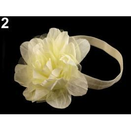 Pružná čelenka do vlasov s kvetom žltá najsv. 12ks Stoklasa