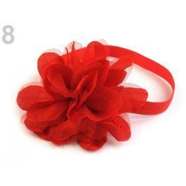 Pružná čelenka do vlasov s kvetom červená 36ks Stoklasa
