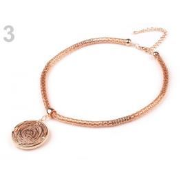 Kovový náhrdelník s príveskom nová farba 1ks Stoklasa