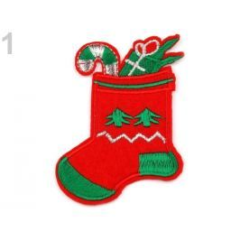 Nažehlovačka vianočné motivy červená 150ks Stoklasa