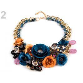 Náhrdelník s kvetmi modrá capri 1ks Stoklasa