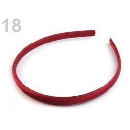 Saténová čelenka do vlasov červená čerešňová 12ks Stoklasa