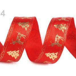 Vianočná stuha šírka 24 mm červená 300m Stoklasa