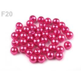 Plastové koráliky Glance / perly Ø6 mm ružová tm. 10g Stoklasa