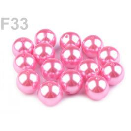 Plastové koráliky Glance / perly Ø20 mm ružová sv. 5ks Stoklasa
