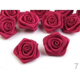Saténová ružička Ø20 mm Bordeaux 10ks Stoklasa