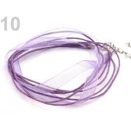 Viacradová šnúrka s karabínkou dĺžka 46 cm Dusty Lavender 1ks Stoklasa