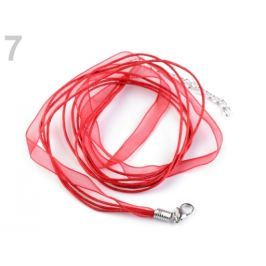 Viacradová šnúrka s karabínkou dĺžka 46 cm červená 10ks Stoklasa