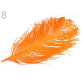 Pštrosie perie 60 cm oranžová dyňová 3ks Stoklasa