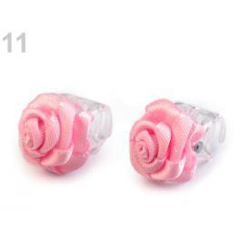 Štipec do vlasov 10x13-15 mm s ružičkou ružová sv. 40ks