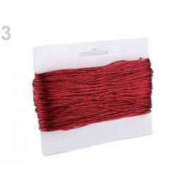 Dutinka s lurexom Ø1,3 mm guľatá červená  10m