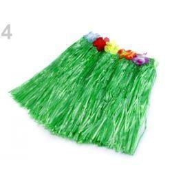 Havajská sukňa s kvetmi zelená irská 21ks Stoklasa