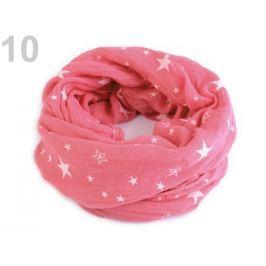 Nákrčník  hviezdy 45x155 cm pink 3ks Stoklasa