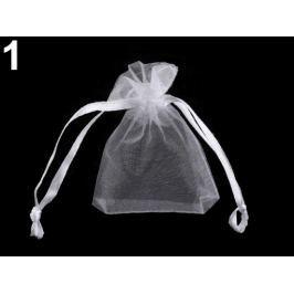 Darčekové vrecúško 5x7 cm organza biela 50ks Stoklasa