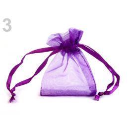 Darčekové vrecúško 5x7 cm organza fialová purpura 50ks Stoklasa
