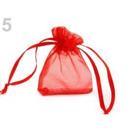 Darčekové vrecúško 5x7 cm organza červená 50ks Stoklasa