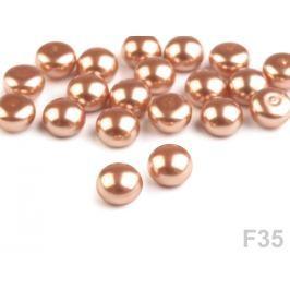Polovičné  perly / perly k nalepeniu Ø6 mm béžová sv. 20ks Stoklasa