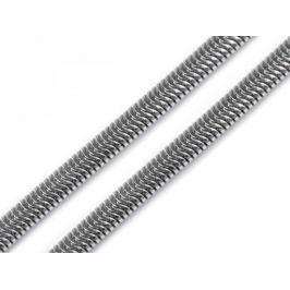 Hadia retiazka 0,3x50 cm z nerezovej ocele platina 1ks Stoklasa