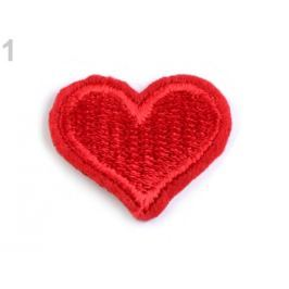 Nažehlovačka srdce červená 20ks Stoklasa
