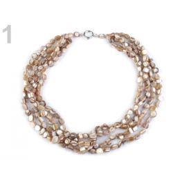 Náhrdelník viacradový perleť 3ks Stoklasa