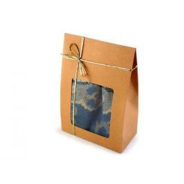 Šál s lurexom v krabičke, darčekové balenie tyrkys sv. 4ks Stoklasa