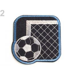 Nažehlovačka bránka s loptou modrofialová 160ks Stoklasa