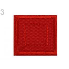 Nažehlovačka štvorec červená  50ks Stoklasa