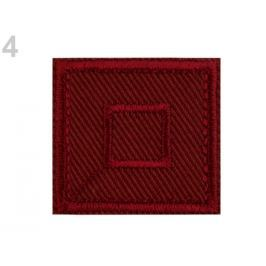 Nažehlovačka štvorec červená karmínová 50ks Stoklasa