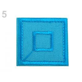 Nažehlovačka štvorec modrá azuro 50ks Stoklasa