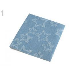Nažehlovacie záplaty riflové 17x43 cm modrá jeans 1ks Stoklasa