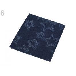Nažehlovacie záplaty riflové 17x43 cm jeans žihaný 2ks Stoklasa
